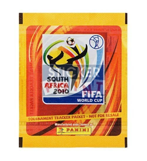 Panini World Cup 2010 Tournament Tracker Packet UK Front