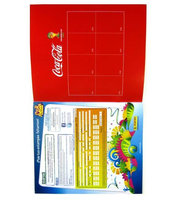 Panini World Cup Brazil 2014 Album Mexico Order Form and Coca Cola Sideview