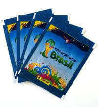 Panini World Cup Brasil 2014 Packet Blue - 4 Versions