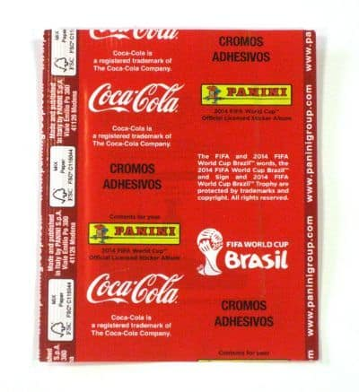Panini World Cup Brasil 2014 Packet - Coca Cola Mexico Back