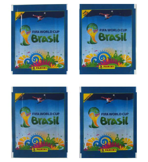 Panini World Cup Brasil 2014 Packet Blue - All Versions