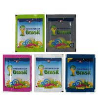 Panini World Cup Brasil 2014 Set With 5 Packets-Versions