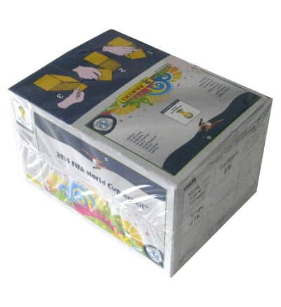 Panini Brasil 2014 Platinum Edition - Box with 100 Packets