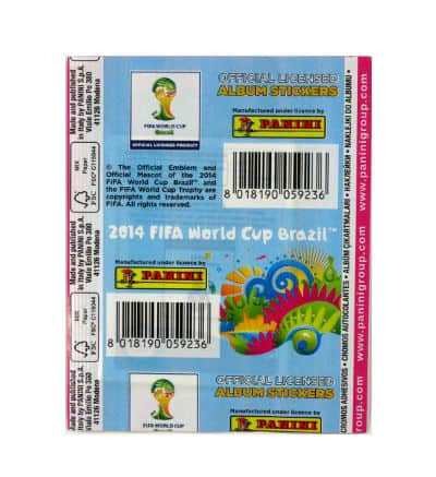 Panini World Cup Brasil 2014 Packet Pink - Back