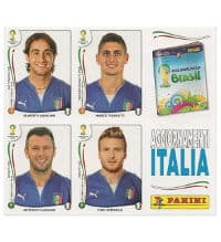 Panini WC 2014 Update Italy - Sheet With 4 Stickers