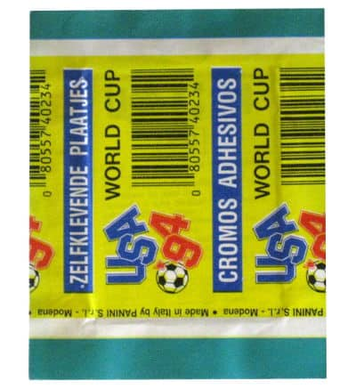 Panini World Cup 94 Packet German World Cup 1994 Back