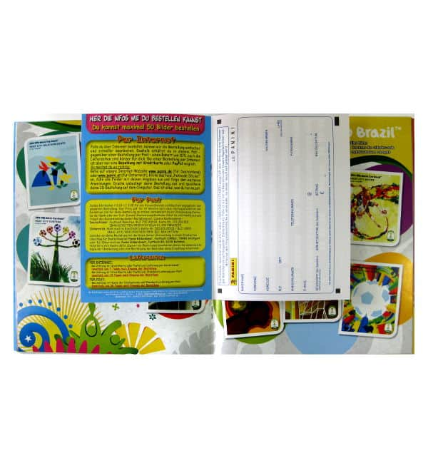 Panini World Cup Brasil 2014 Album Austria Order Form