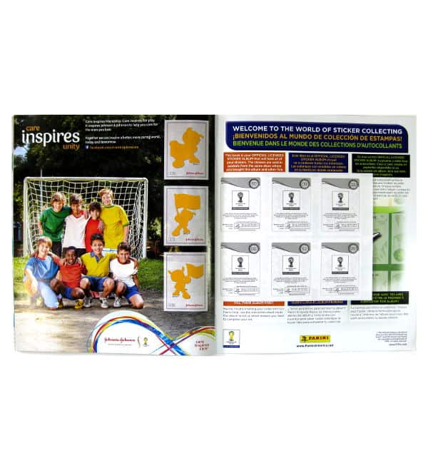 Panini World Cup Brasil 2014 Album USA Johnson & Johnson Special Page