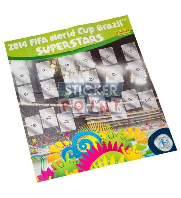 Panini World Cup Brazil 2014 Sticker- Album Swiss Edition Poster Front