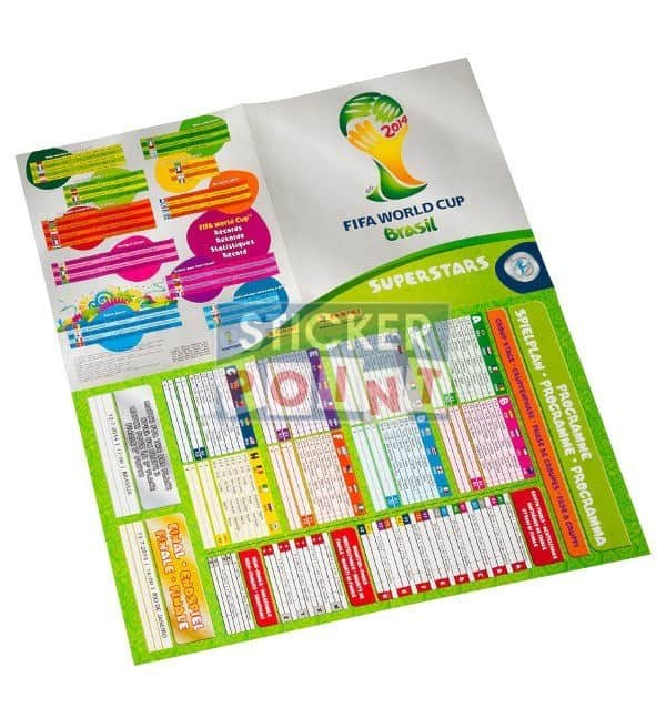 Panini World Cup Brazil 2014 Sticker- Album Swiss Edition Poster Back