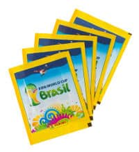 Panini World Cup Brasil 2014 Sticker Packets - 5, 10, 25, 50