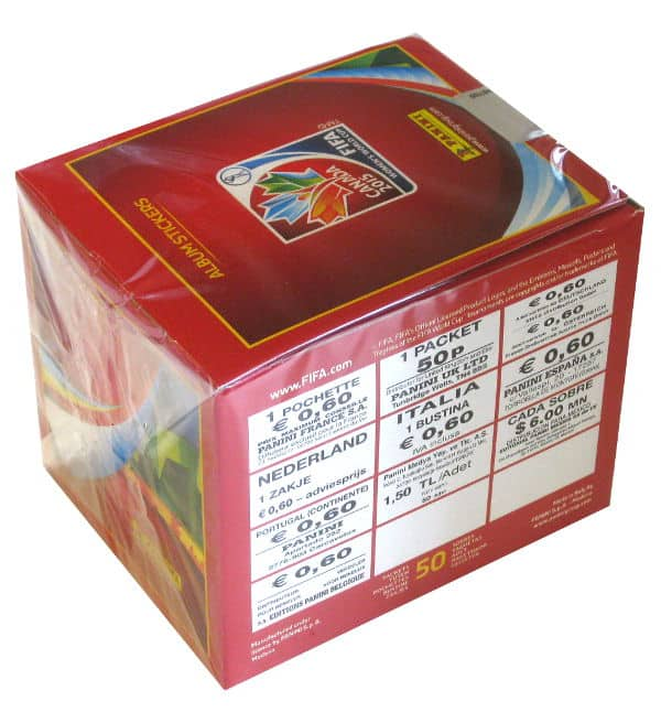 Panini Womens World Cup Canada 2015 Sticker Box