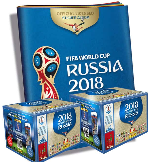 Panini World Cup 2018 Stickers - 2 Boxes + 1 Album ba4062c532bf