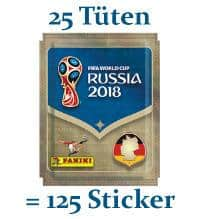 Panini World Cup 2018 Stickers - 25 Packets