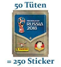 Panini World Cup 2018 Stickers - 50 Packets