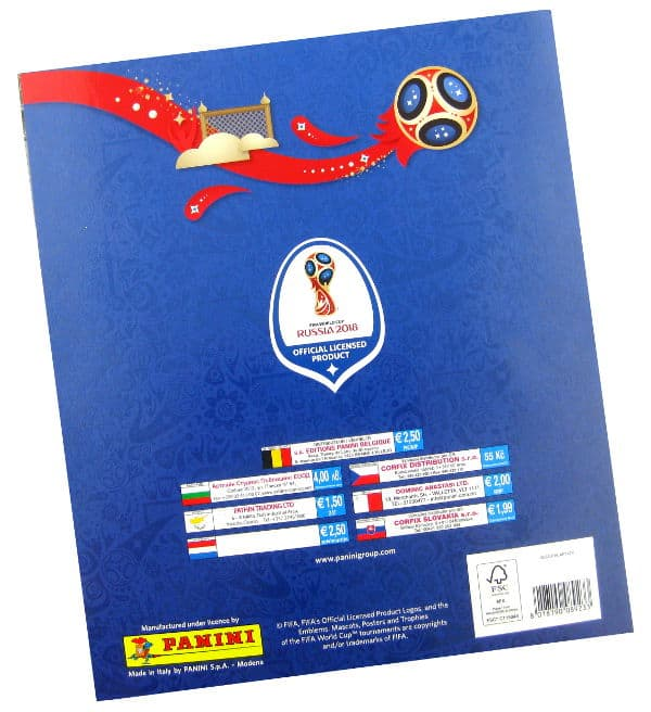Panini World Cup 2018 Album 670 - Price