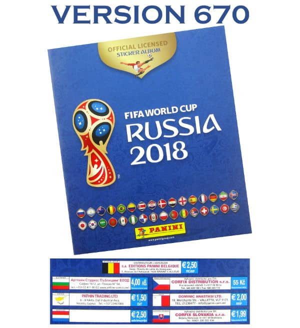 Panini World Cup 2018 Album - Version 670