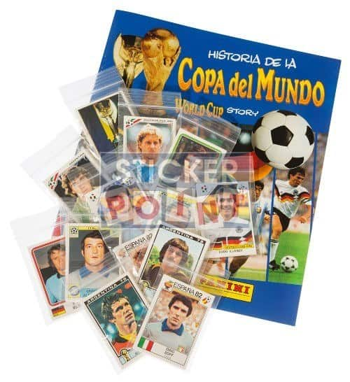Panini World Cup Story All Stickers + Album