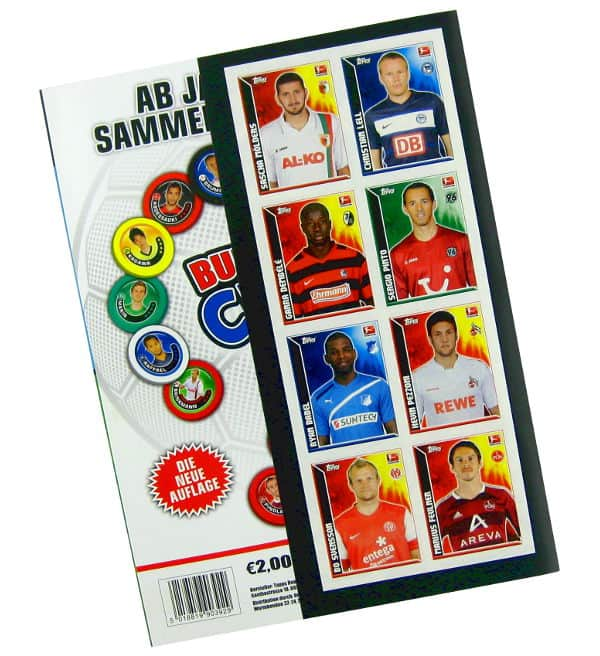 Topps Bundesliga Stickers 2011 / 2012 Album - Back