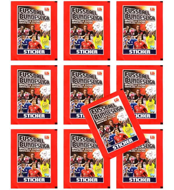 Topps Bundesliga Stickers 2011 / 2012 10 Packets