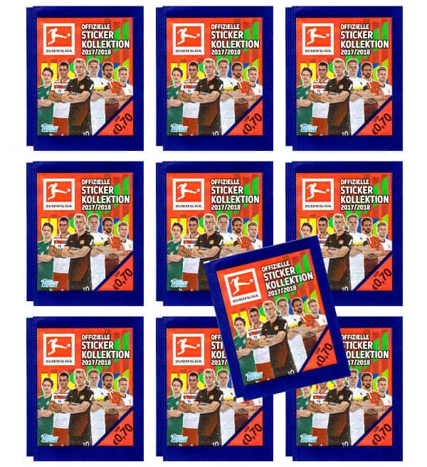 Topps Bundesliga Stickers 2017 2018 - 10 Packets