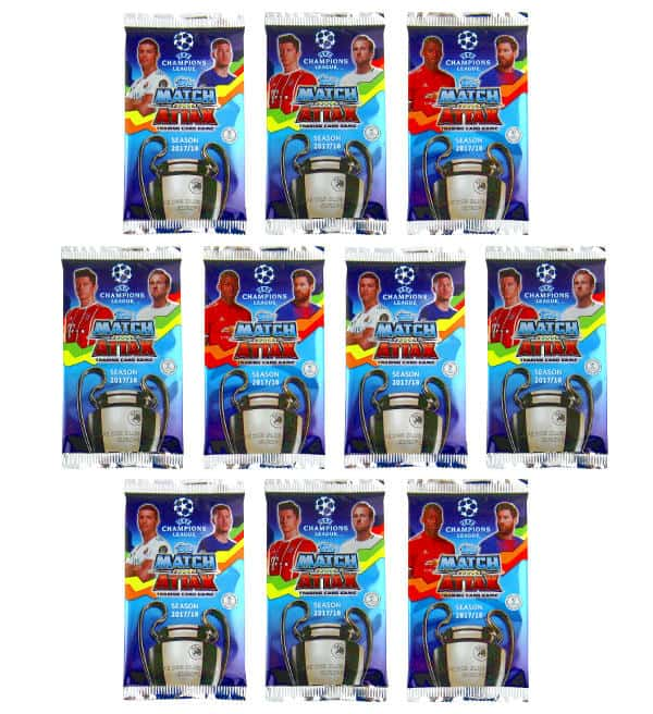 Topps Champions League Match Attax 17 / 18 - 10 Packets