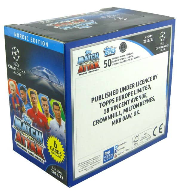 Topps CL Match Attax 2016 / 2017 Nordic Edition - Box 300 cards