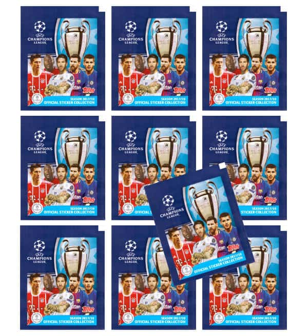 Topps Champions League Stickers 17 / 18 - 10 Packets