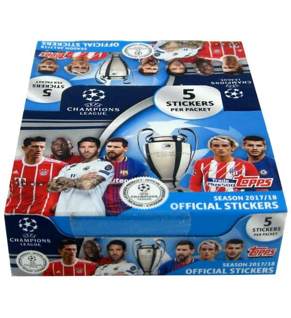 Topps Champions League Stickers 2017 / 2018 - 30 Packets