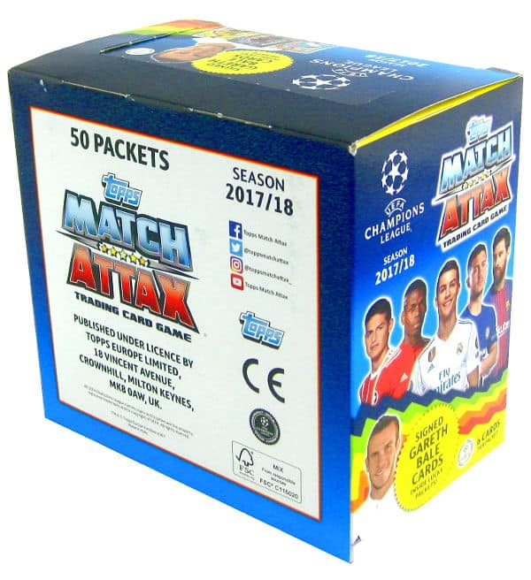 Topps CL Match Attax 2017 / 2018 Nordic Edition - Box with 300 cards