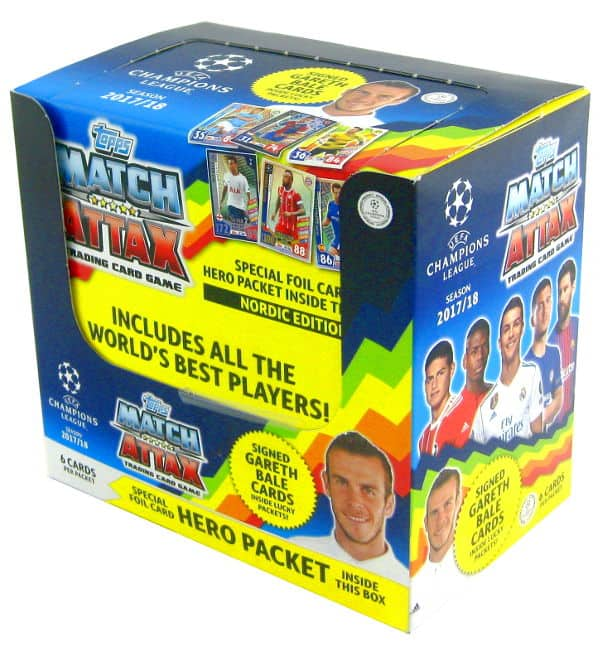Topps CL Match Attax 2017 / 2018 Nordic Edition - Box with 50 packets