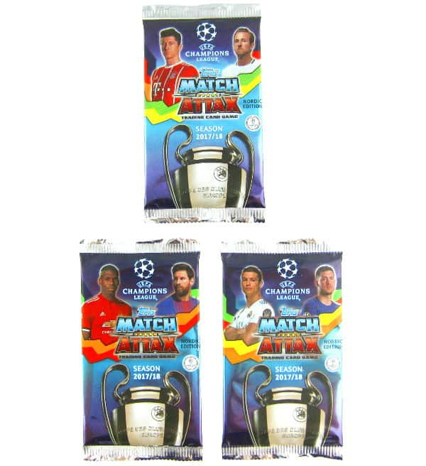Topps CL Match Attax 2017 / 2018 Nordic Edition - Packets