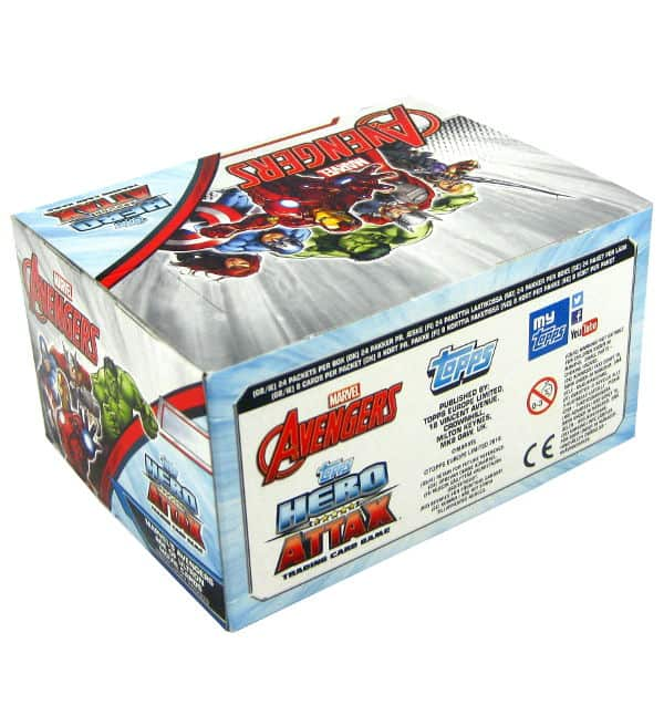 Topps Hero Attax Avengers - display with 192 cards