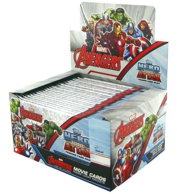 Topps Hero Attax Avengers - display with 24 packets