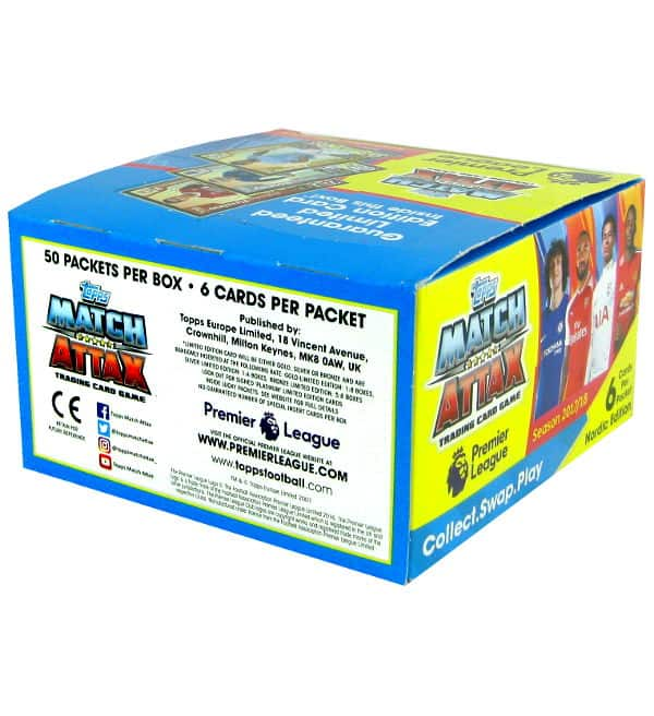 Topps PL Match Attax 2017 / 2018 Nordic Edition - Box with 300 cards