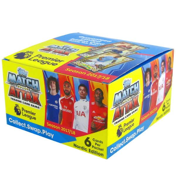 Topps PL Match Attax 2017 / 2018 Nordic Edition - Box with 50 packets