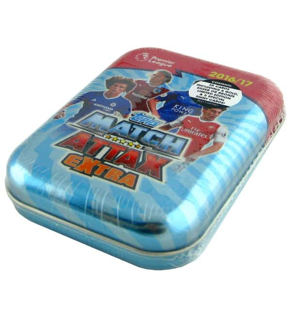 Topps PL Match Attax Extra 2016 / 2017 Pocket Tin Blue
